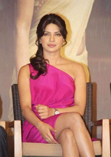 Priyanka Chopra in pink dress