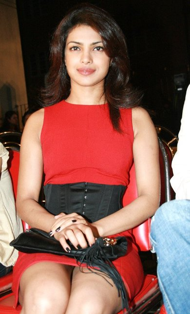 Priyanka Chopra in red dress