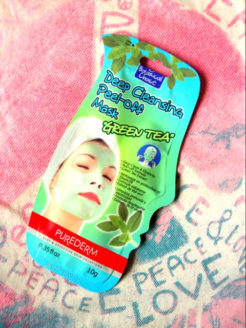Purederm+Green+Tea+Deep+Cleansing+Peel-Off+Mask+Review