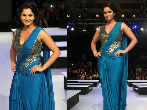 Sania Mirza Blue gown