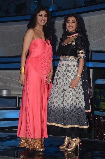Shilpa Shetty in pink saree