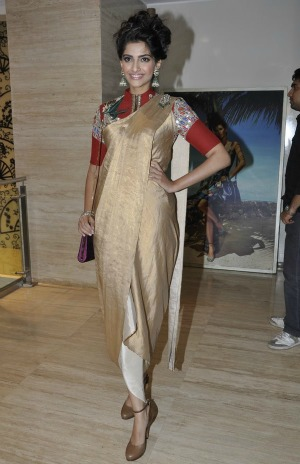 SonamKapoor at Feragamo Salvatore event