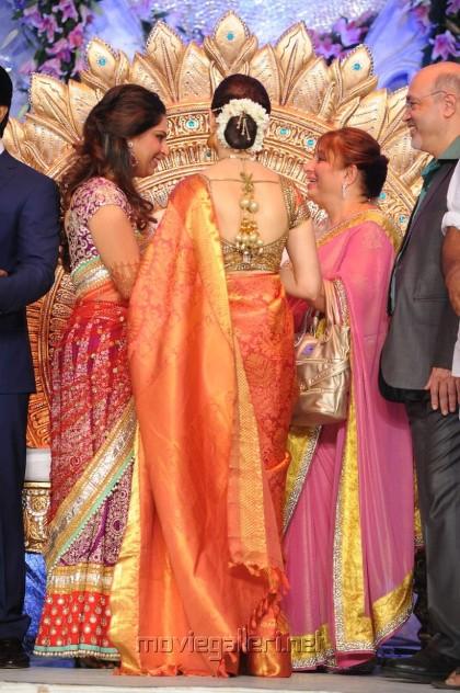 Actress Tamanna at Ram Charan Upasana Reception Stills