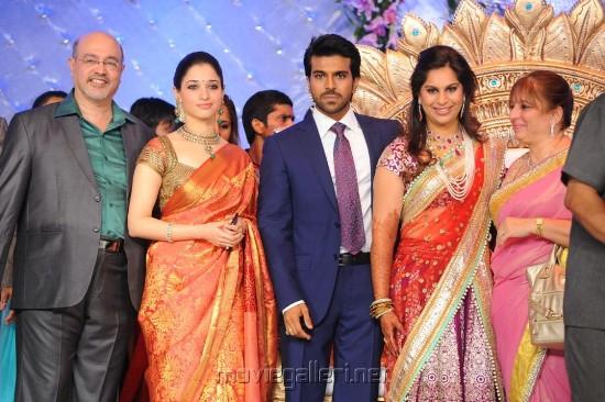 Actress Tamanna at Ram Charan Upasana Wedding Reception Stills