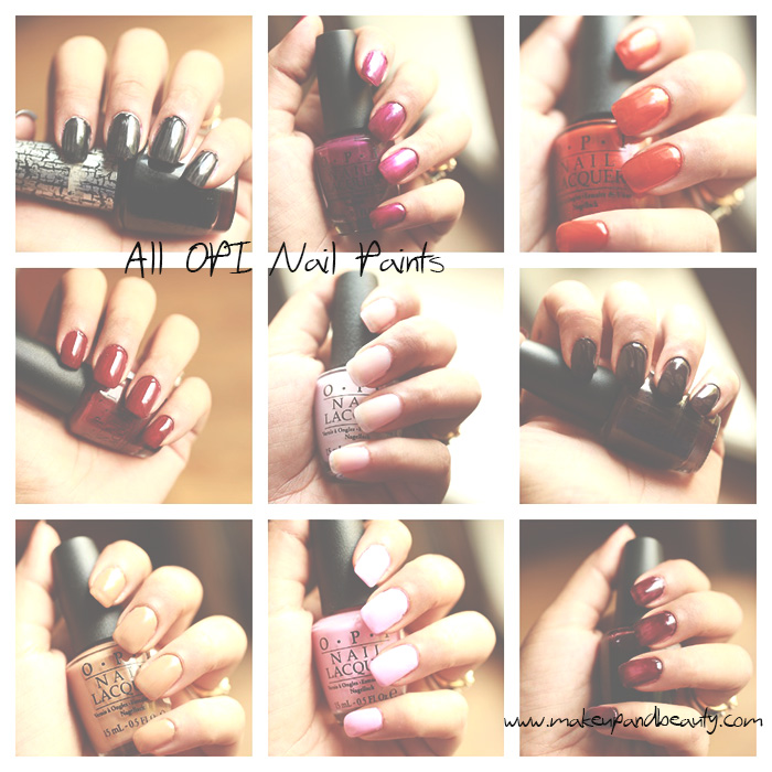all OPI Nail Paints