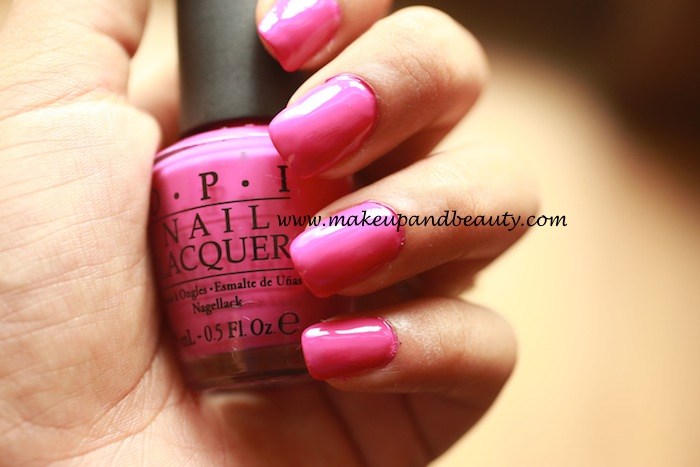 OPI nail paint ate berries in the canaries