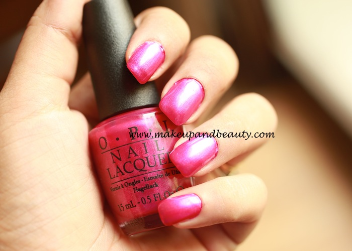 flashbulb fuchsia by OPI review