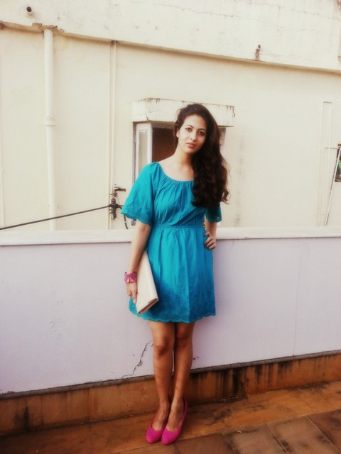 light blue frock
