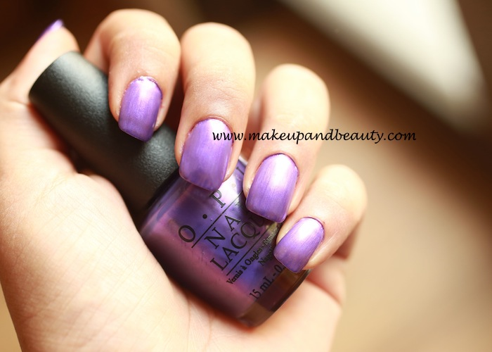 OPI Purple with a- purpose photos, swatches