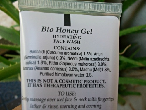 Biotique Hydrating Face Wash Bio Honey Gel claims