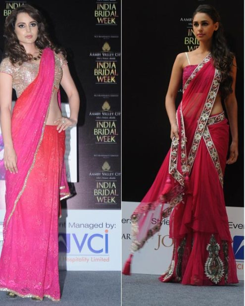 Kangana Ranaut in a pink saree