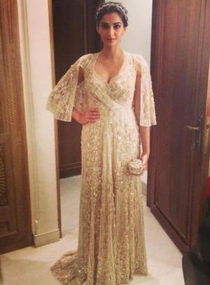 Sonam Kapoor in gown