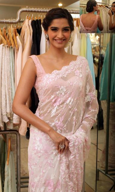 Sonam Kapoor pink saree