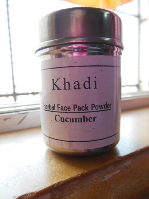 Khadi Herbal Face Pack Powder - Cucumber