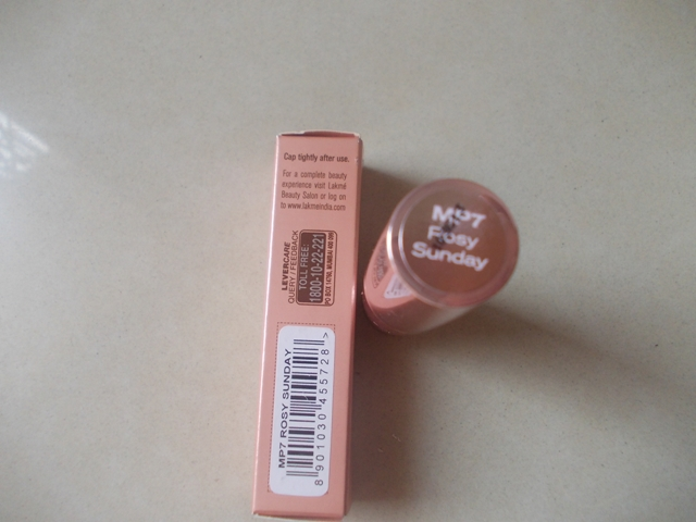 Lakme 9 to 5 Lip Color - Rosy Sunday4