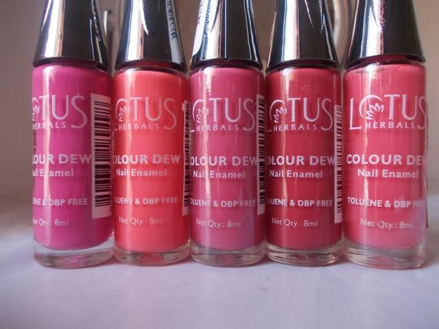 5 Lotus Herbals Color Dew Nail Enamel 5