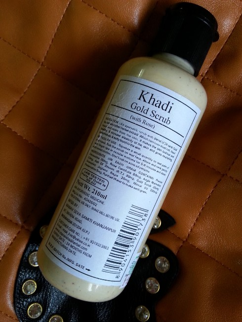 Khadi+Gold+Scrub+Review