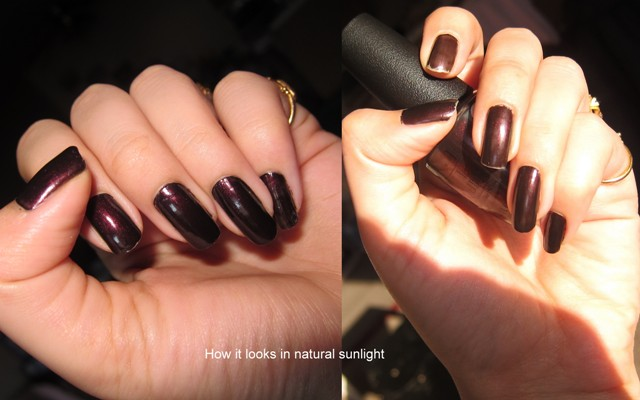 O.P.I Nail Lacquer Midnight in Moscow4