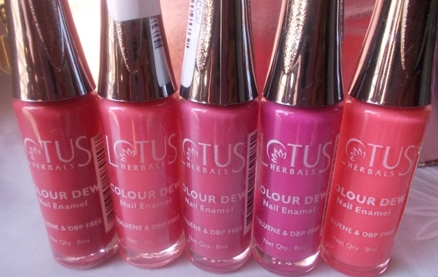 lotus herbals color  dew nail enamel shades (2)