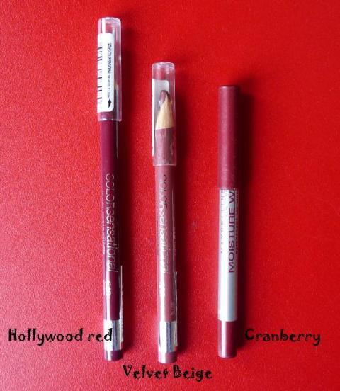 3_maybelline_lip_liners_velvet_beige_cranberry_and_hollywood_red