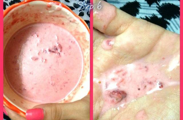 DIYStrawberry ProteinHair Mask