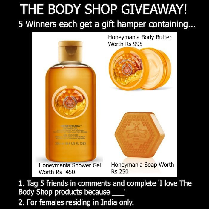 the body shop honeymania giveaway