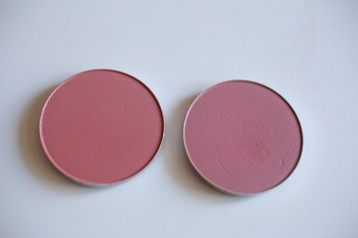 MAC Blush Desert Rose vs breath of plum
