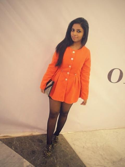 outfit of the day orange coat dress. Black Bedroom Furniture Sets. Home Design Ideas