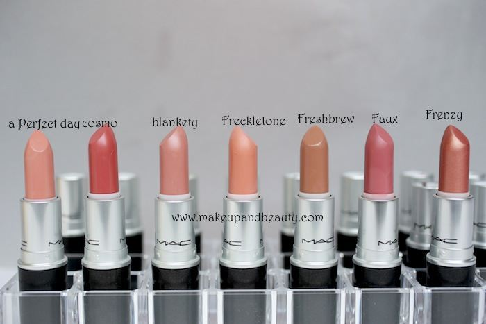 Lotus lipstick shades with number