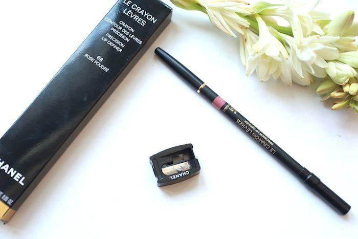chanel rose poudre precision lip definer
