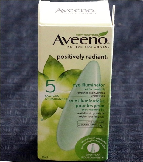 Aveeno positively radiant eye illuminator