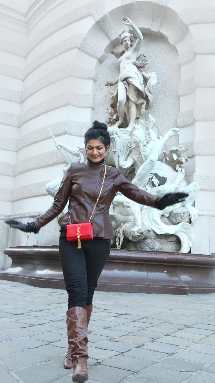 OOTD : Brown Leather Jacket