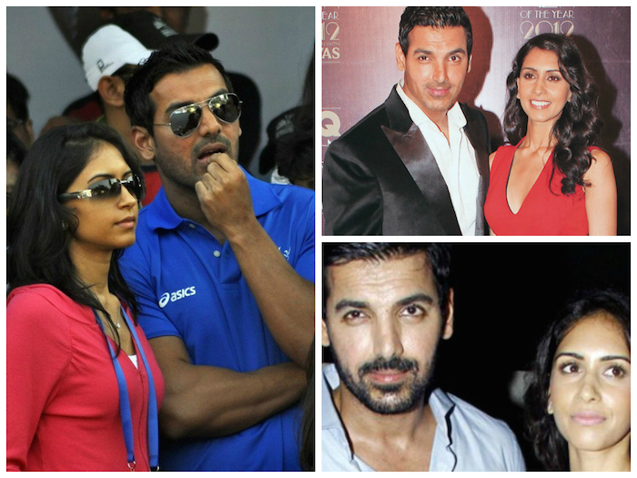 John Abraham and his wife