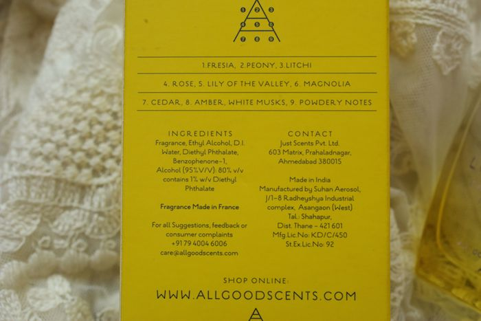 love joy edp ingredients