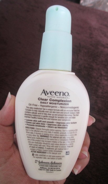 how to use aveeno clear complexion
