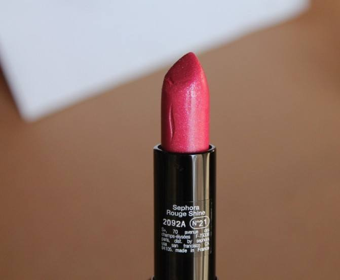 Sephora Collection Rouge Shine 21 A Lister Shimmer Lipstick Review