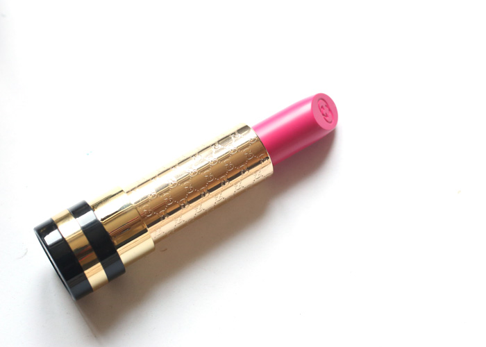 gucci luxurious lipstick begonia 430 reviews, swatches