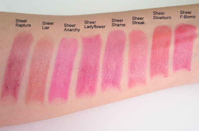 Urban Decay Liar Sheer Revolution Lipstick Review Swatches