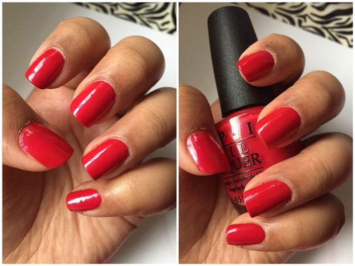 OPI Nail Lacquer in Passion, Suzi's Hungary Again!, OPI Red Review5