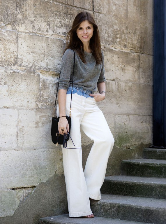 Tips to Look Slimmer in White Pants