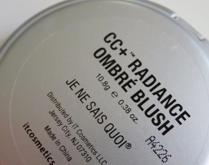 it cosmetics cc radiance ombre blush � je ne sais quoi review