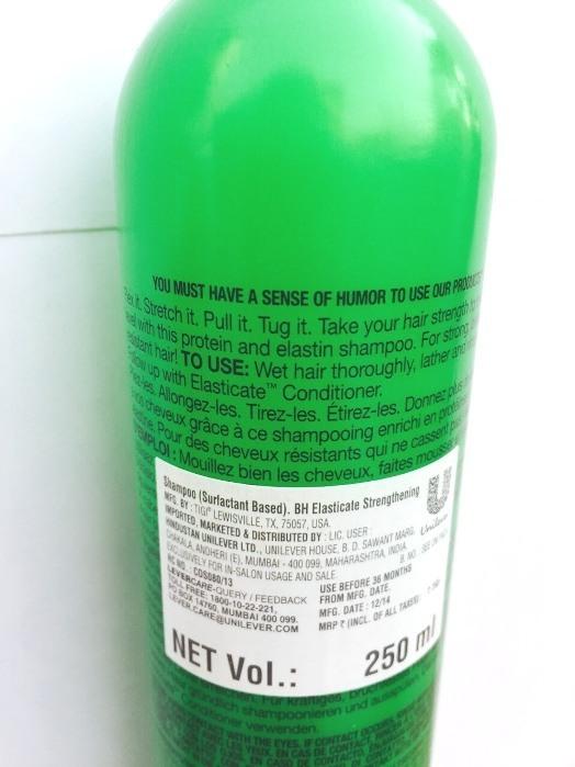 TIGI Bed Head Elasticate Strengthening Shampoo Review