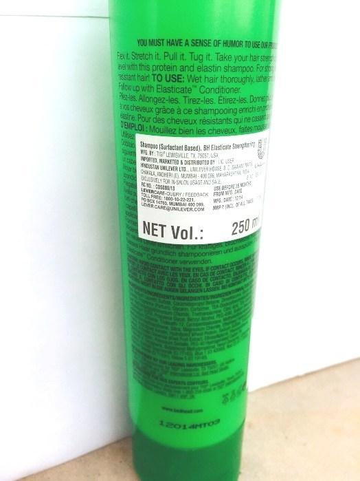 TIGI Bed Head Elasticate Strengthening Shampoo Review3