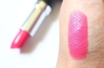 Pink lipstick hand swatch