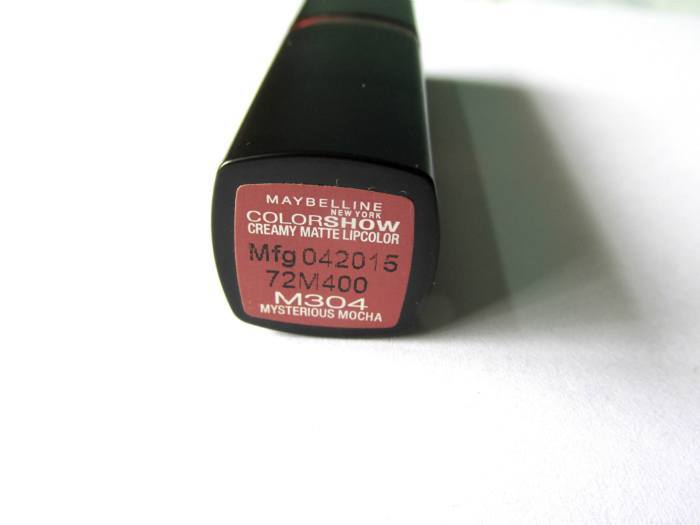 Maybelline Color Show Mysterious Mocha Creamy Matte Lip