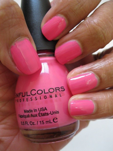 5 Sinful Colors Nail Polishes Cindrella Sail La Vie Easy Going 24 7 Thimbleberry Review