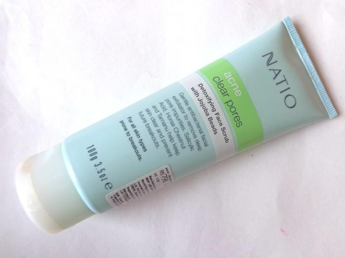 Natio Detoxifying Face Scrub with Jojoba Beads Review