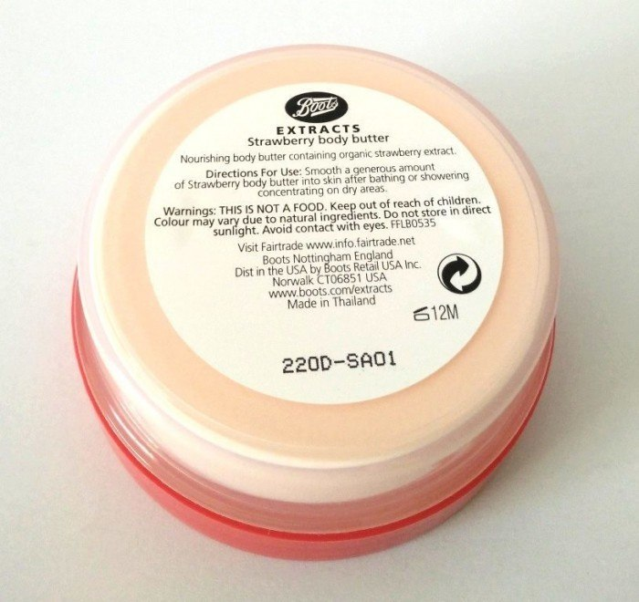 boots extracts strawberry body butter review. Black Bedroom Furniture Sets. Home Design Ideas
