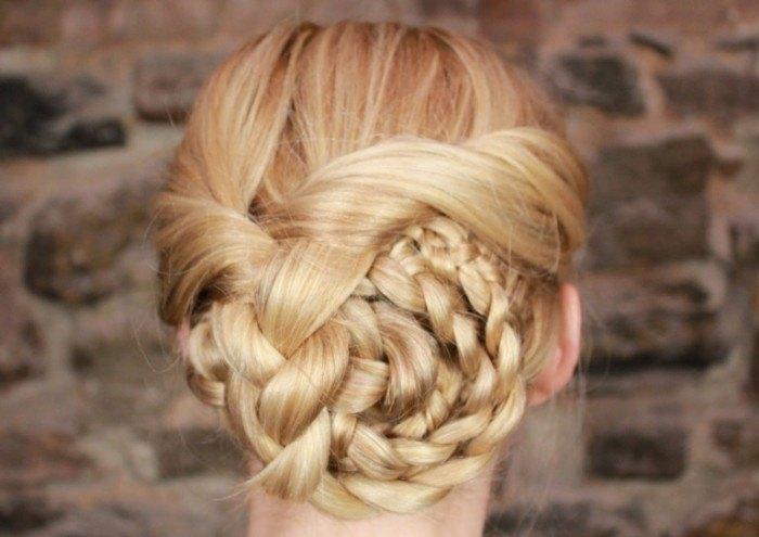 braided swirl updo