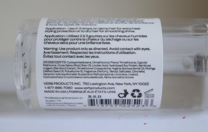 Ingredients Verb Ghost oil